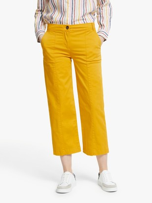 Boden Daisy Cropped Chino Trousers, Tuscan Sun