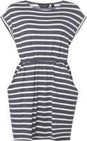 Dorothy Perkins Navy And Ivory Striped T-Shirt Dress
