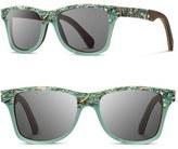 Shwood Women's 'Canby' 55Mm Polarized Seashell & Wood Sunglasses - Seashell/ Grey Polar