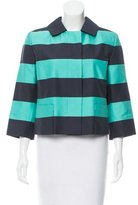 Akris Punto Striped Casual Jacket