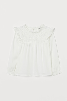 H&M Lace-yoke Blouse