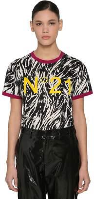 N°21 Animalier Logo Printed Cotton T-Shirt