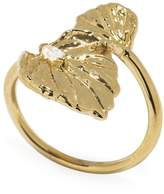 Jordan Askill Double Leaf Diamond Ring - Yellow Gold