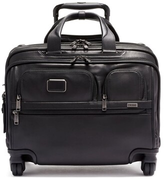 Tumi Alpha 3 Leather Deluxe 4-Wheel Laptop Briefcase (35.5Cm)