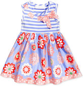 Bonnie Baby Stripes & Floral-Print Dress, Baby Girls (0-24 months)