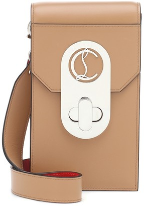 Christian Louboutin Elisa Phone Pouch leather crossbody bag