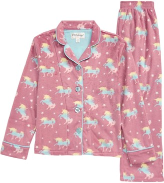 PJ Salvage Unicorn Squad Notch Collar Two-Piece Pajamas
