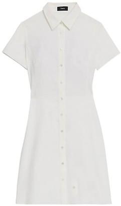 Theory Linen-Blend Shirtdress