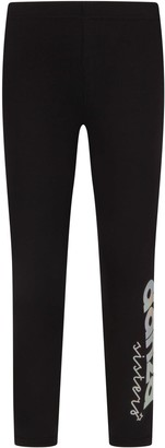 Dimensione Danza Black Girl Leggings With Iridescent Logo