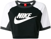 Nike cropped logo T-shirt - women - Cotton - XS