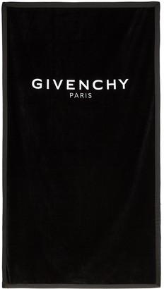 Givenchy Black Logo Towel