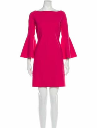Chiara Boni Bateau Neckline Mini Dress Pink