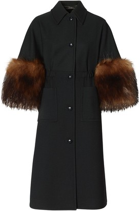 Burberry Cape-Style Buttoned Coat