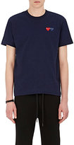 Comme des Garcons Men's Heart-Patch Cotton T-Shirt