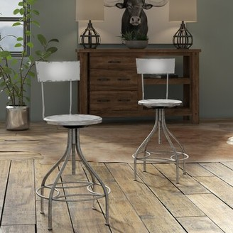Trent Austin Design Lomita Swivel Adjustable Height Bar Stool Color: Gray