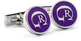 Robert Graham Purple & White RG Cuff Links