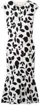 Narciso Rodriguez Printed Silk-blend Midi Dress - White