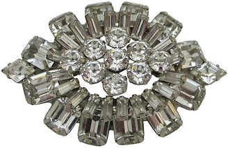 One Kings Lane Vintage Weiss Layered Multi Shape Rhinestone Pin - Thanks for the Memories