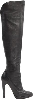 Roberto Cavalli Black Leather Boots