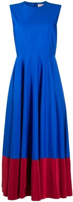 Roksanda Colour-Block Flared Midi Dress