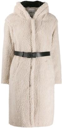 BA&SH Filip belted fleece coat
