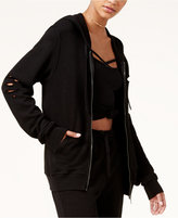Material Girl Active Juniors' Ripped Hoodie, Created for Macy's