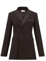 RED Valentino Double-breasted Tuxedo Jacket - Womens - Black