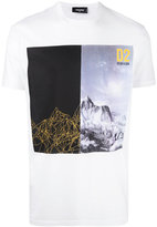 DSQUARED2 mountain print t-shirt - men - Cotton/Wool - S