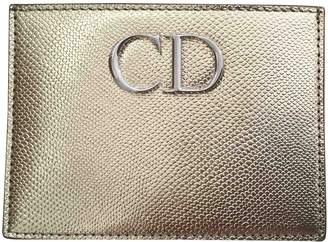 Christian Dior Gold Leather Purses, wallets & cases
