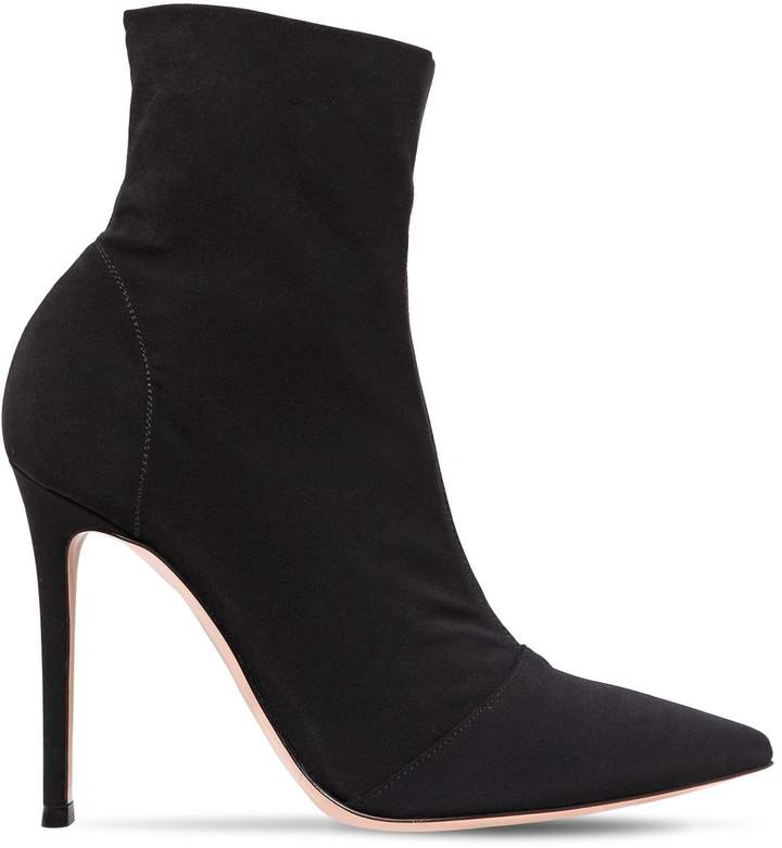 Gianvito Rossi 100mm Stretch Jersey Sock Ankle Boots