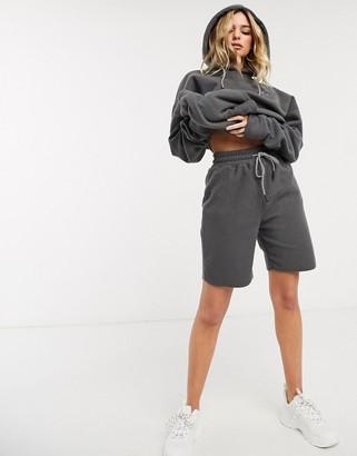 Public Desire relaxed shorts in fleece co-ord