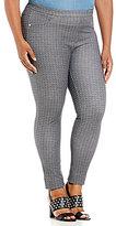 MICHAEL Michael Kors Chevalier Texture Print Knit Twill Leggings