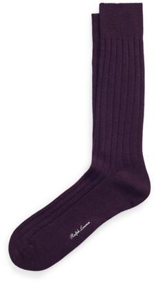 Ralph Lauren Cashmere-Blend Dress Socks