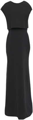 Victoria Beckham Layered Zip-detailed Crepe Gown