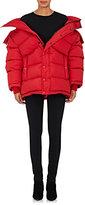 Balenciaga Women's Ripstop Puffer Jacket & Scarf-Red