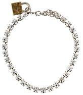 Rodarte Swarovski Crystal & Padlock Chain Necklace