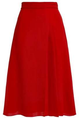 Lanvin Pleated Wool-crepe Skirt