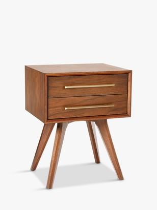 west elm Wright Bedside Table, FSC Certified (Eucalyptus), Brown
