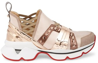 Christian Louboutin 123 Run Metallic Sneakers