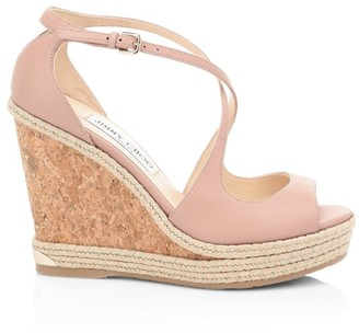Jimmy Choo Dakota Leather Cork Wedges