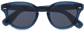 Oliver Peoples Blue Tint Round Sunglasses