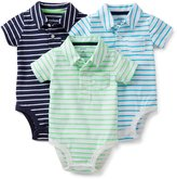 Carter's Baby Boys' 3 Pack Striped Polo Bodysuits (Baby) - Multicolor
