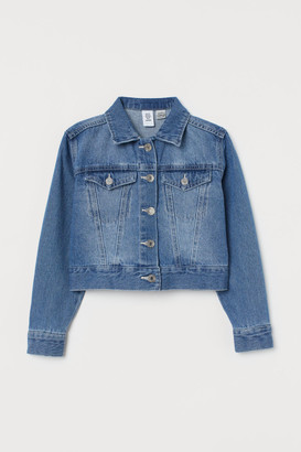 H&M Embroidered motif denim jacket
