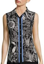 Tommy Hilfiger Floral Button-Front Top