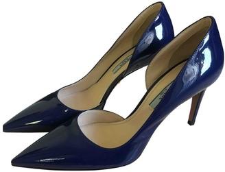 Prada Navy Patent leather Heels