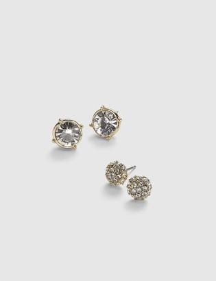 Lane Bryant Stud Earrings 2-Pack - Fireball & Faceted Stone