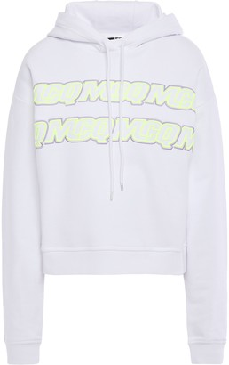 McQ Embroidered French Cotton-terry Hoodie