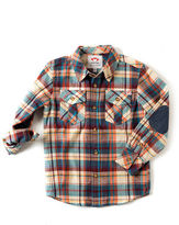 Appaman Flannel Elbow-Patch Shirt, Size 2-10