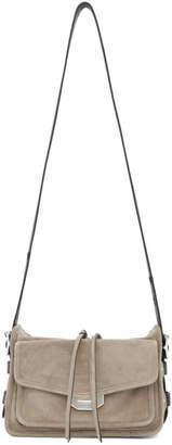 Rag & Bone Grey Suede Small Field Messenger Bag