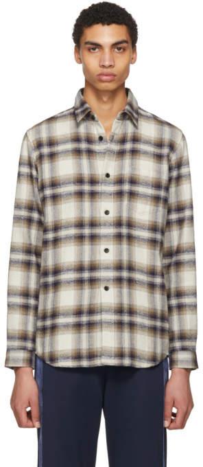 John Elliott Tan Plaid Shirt